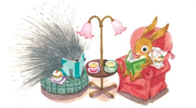 annie-silvestro-interior-art-bunny-and-porcupine